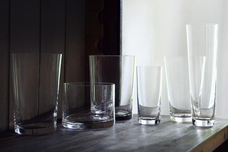 Deborah Ehrlich glassware, courtesy of the designer and L'ArcoBaleno