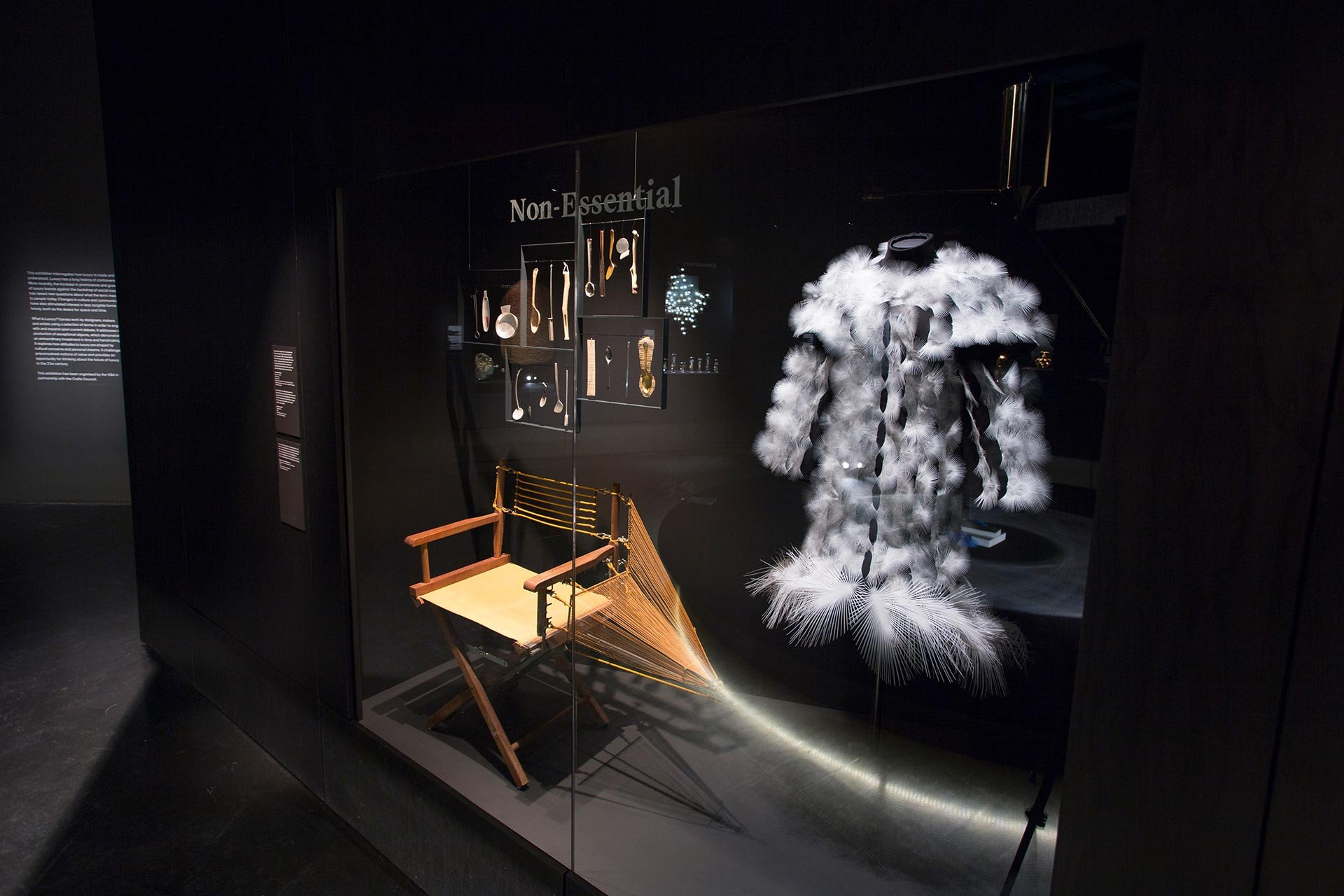 Installation view of What is Luxury?Courtesy of Victoria and Albert Museum