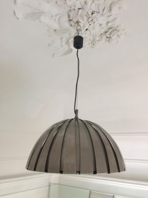 Italian Vintage Stainless Steel Pendant Lamp By Elio Martinelli For Luce 1960s 1