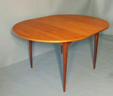 Tavolo da pranzo rotondo Mid-Century allungabile in teak, anni \'60 ...