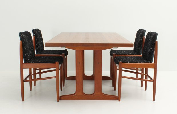 Danish Solid Teak Extendable Dining Table, 1960s 8