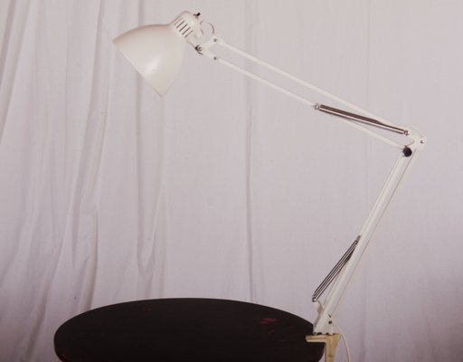 Unique White Desk Lamp from Luxo, 1980s for sale at Pamono RC07