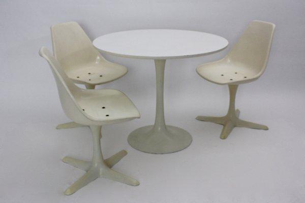 Set da pranzo tavolo con sedie di Maurice Burke per Arkana, Regno ...