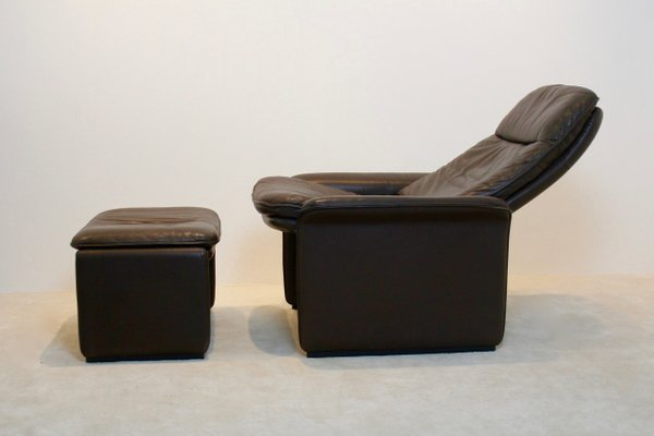 Great DS 50 Adjustable Brown Leather Lounge Chair U0026 Ottoman From De Sede, ...