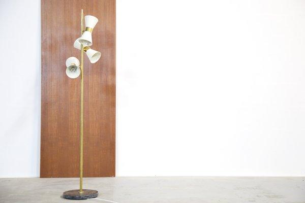 Vintage italian 3 light floor lamp for sale at pamono vintage italian 3 light floor lamp 1 aloadofball Choice Image