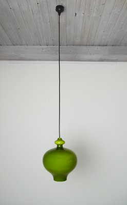 German green handblown glass pendant lamp from staff 1960s for sale german green handblown glass pendant lamp from staff 1960s 9 aloadofball Image collections