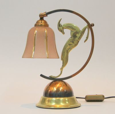 Art deco french brass copper and bronze table lamp en venta en pamono art deco french brass copper and bronze table lamp imagen 1 aloadofball Choice Image