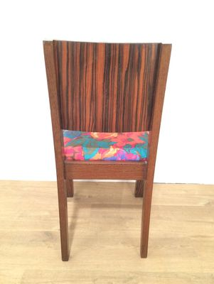 Art Deco Macassar Ebony Chairs, 1930s, Set Of 2 8