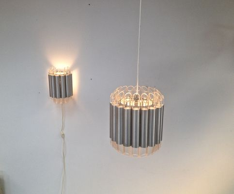 Dutch Septiem Wall And Pendant Lamps From Raak Amsterdam 1965 Set Of 2