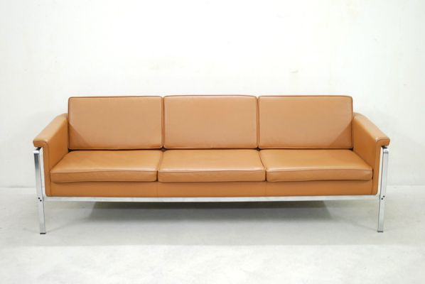 German 6913 Cognac Leather Sofa By Horst Brüning For Kill International,  1960s 2