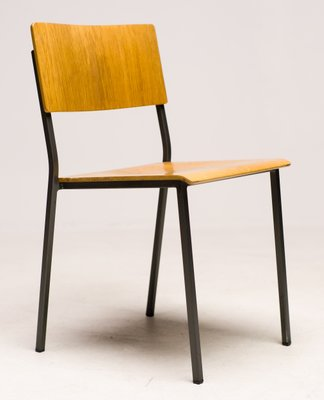 Danish Minimalist Oak Stacking Chair 1