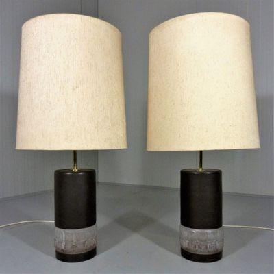 Vintage glass table lamps set of 2 en venta en pamono vintage glass table lamps set of 2 imagen 2 aloadofball Choice Image