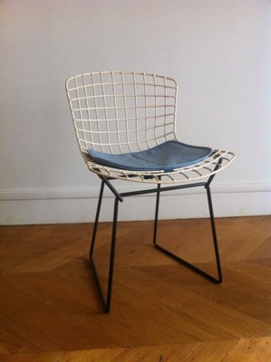 white off knoll chair ebay side for vintage shell chairs bertoia bhp fiberglass harry