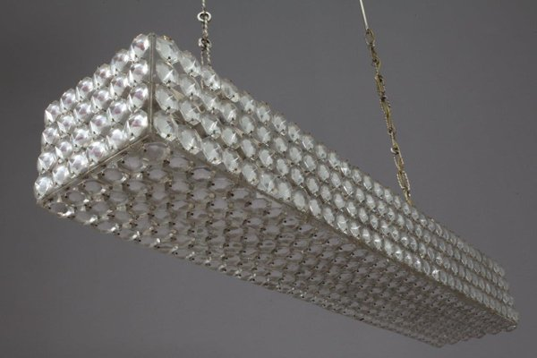 Austrian rectangular crystal chandelier from bakalowits 1970s for austrian rectangular crystal chandelier from bakalowits 1970s 2 mozeypictures Gallery