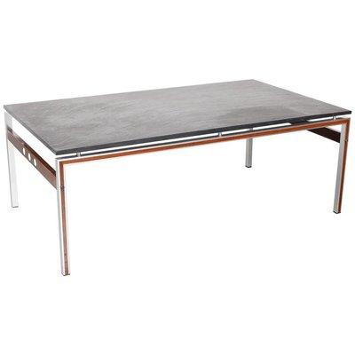Table Basse avec Plateau en Pierre Ardoise, Danemark,1960s en vente ...