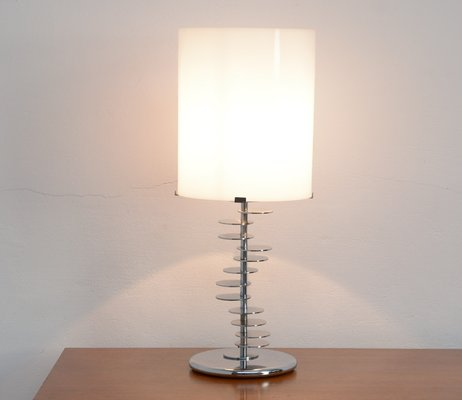 Lucite chrome base table lamp 1980s for sale at pamono lucite chrome base table lamp 1980s 1 mozeypictures Choice Image