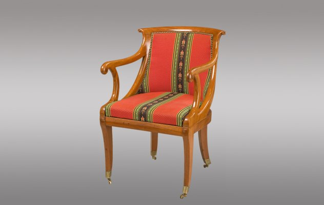 French Antique Mahogany Armchair, 1830 1 - French Antique Mahogany Armchair, 1830 For Sale At Pamono