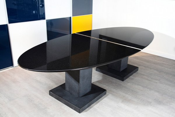 Black Granite Dining Table by Michael Prentice for sale at Pamono