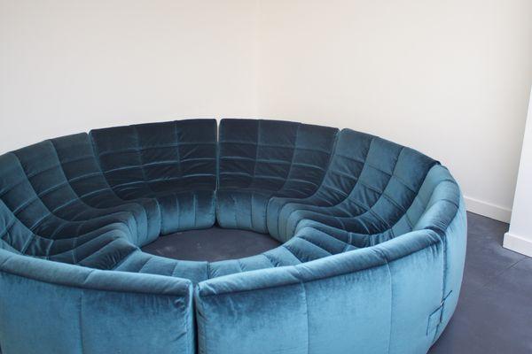 Good Gilda Circle Sofa By Michel Ducaroy For Roset, 1972 8