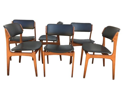 Model 49 Dining Chairs By Erik Buch, 1950s, Set Of 6 1