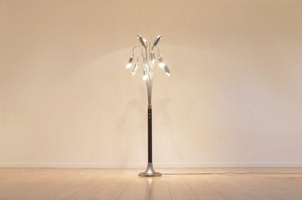 Vintage italian black chromed metal flower shaped floor lamp for vintage italian black chromed metal flower shaped floor lamp 2 mozeypictures Images