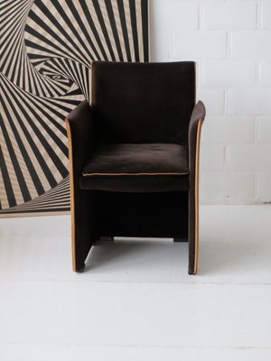Amazing Brown Velour And Leather 401 Break Chair By Mario Bellini For Cassina,  1970s 2