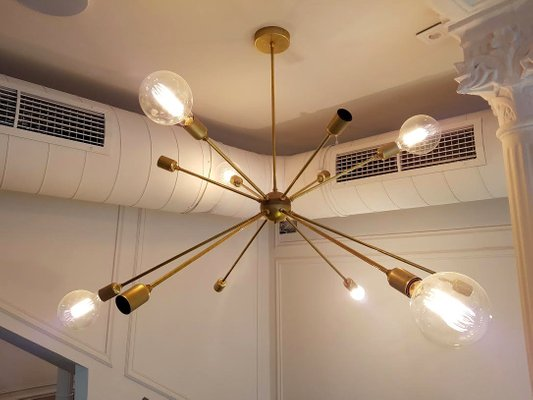 Sputnik ceiling light with 12 arms by juanma lizana for sale at pamono sputnik ceiling light with 12 arms by juanma lizana 6 mozeypictures Image collections