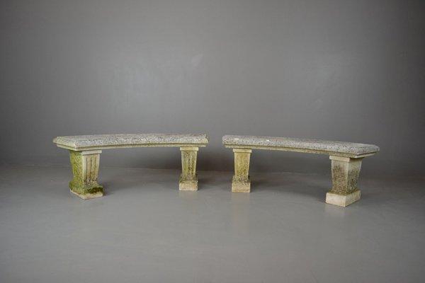 Vintage Cast Stone Garden Benches Set of 2 1 & Vintage Cast Stone Garden Benches Set of 2 for sale at Pamono