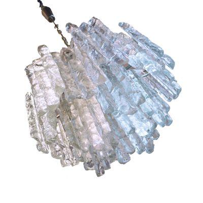 Großer Österreichischer Kronleuchter aus Murano Eisglas von J.T. ...