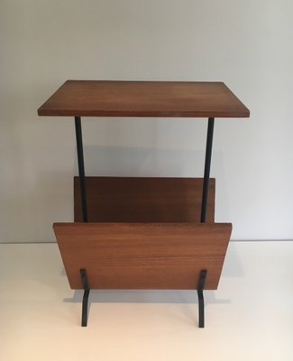 Vintage Side Table with Magazine Rack 1950s for sale at Pamono