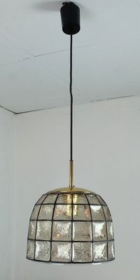 Vintage Glass Pendant Lamp From Glashutte Limburg 1