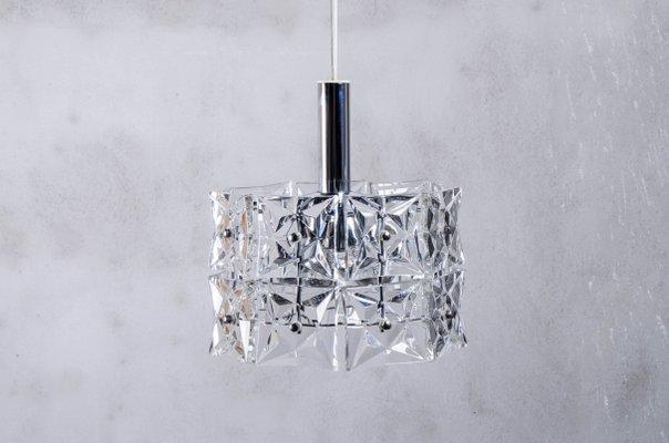 Lampadario vintage geometrico in cristallo di Kinkeldey in vendita ...