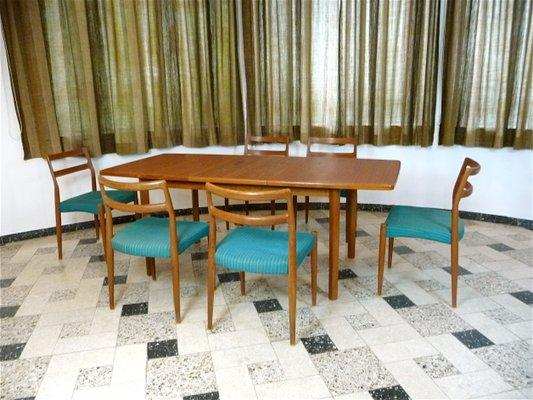 Tavolo da pranzo allungabile in teak, Danimarca, anni \'70 in vendita ...