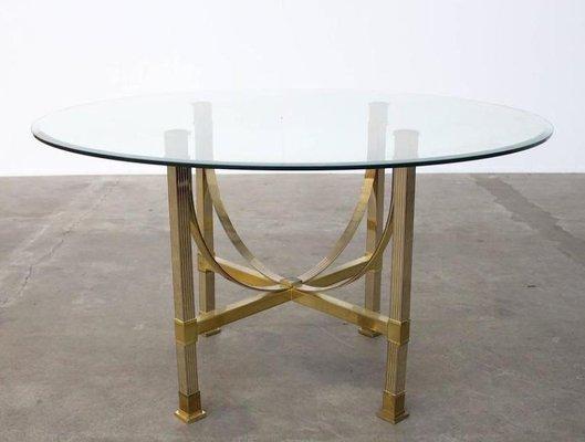 Tavolo da pranzo in ottone e vetro di Maison Jansen in vendita su ...