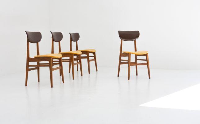 Lovely Schwedische Mid Century Stühle Aus Skai U0026 Samt, 1950er, 4er Set 2 Home Design Ideas