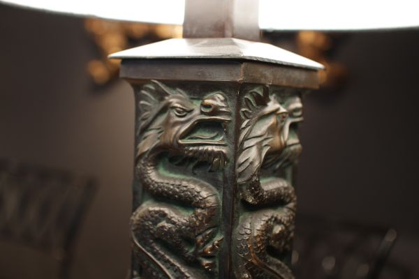 Brass dragon table lamp 1970s for sale at pamono brass dragon table lamp 1970s 3 aloadofball Choice Image