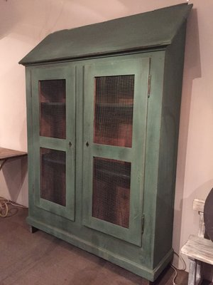 Superieur Vintage French Painted Wooden Armoire 3
