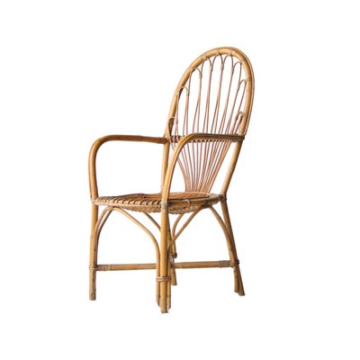 Vintage French Bamboo Armchair 1