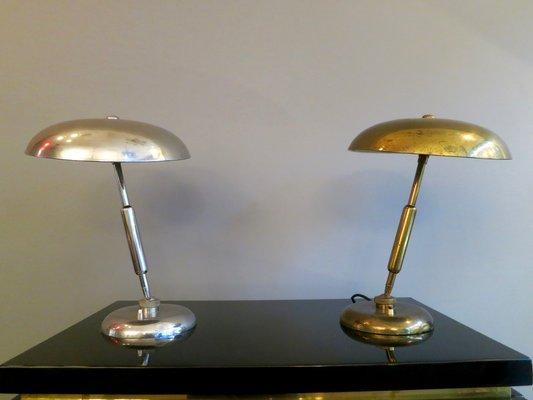 Mid century brass nickel table lamps set of 2 en venta en pamono mid century brass nickel table lamps set of 2 imagen 2 aloadofball Choice Image
