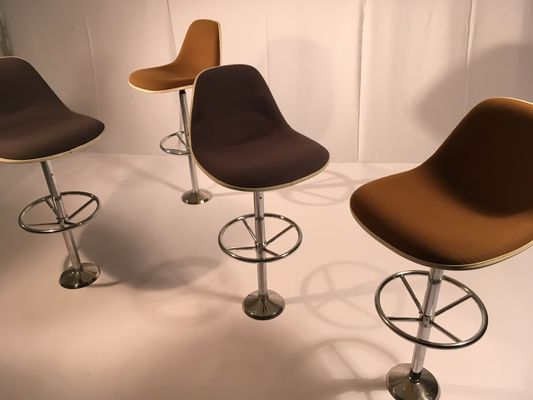 Vintage Bar Stools by Ray Charles Eames for Herman Miller Set of