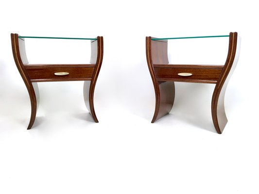 mid-century bedside tables, set of 2 for sale at pamono