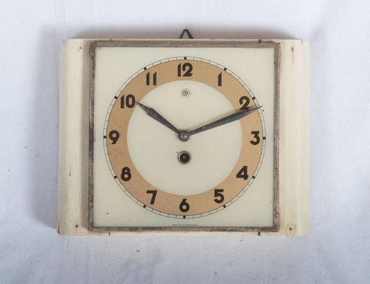 Czech Art Deco Wall Clock From Chomutov, 1930s 2