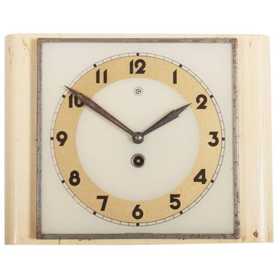 Art Deco Wall Clock From Chomutov, 1930s 1