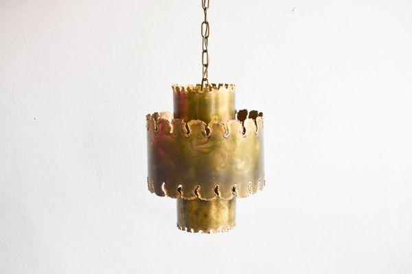Vintage Brutalist Pendant Lamp By Holm Sorensen 1