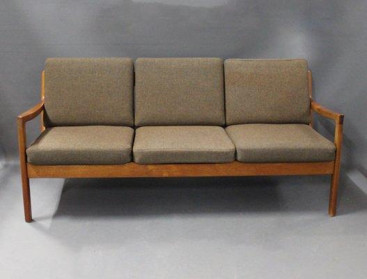 Senator 166 Three Seater Sofa By Ole Wanscher For France U0026 Son, 1960s 1