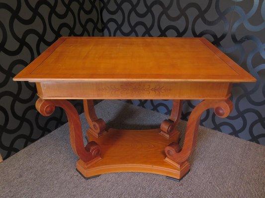 Veneered Coffee Table In Cherry Wood, 1900s 1