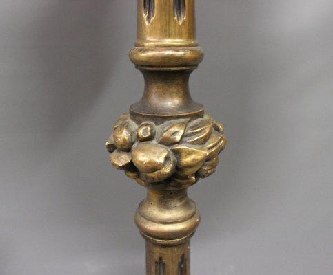Antique Floor Lamp In Gilded Wood, 1920s 3