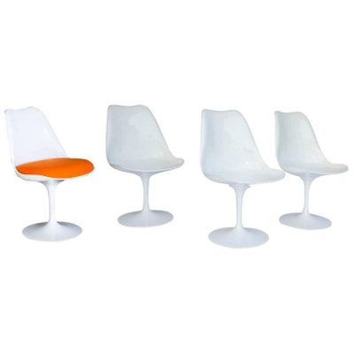 saarinen tulip chair. vintage early 151 white tulip chair by eero saarinen for knoll international 2