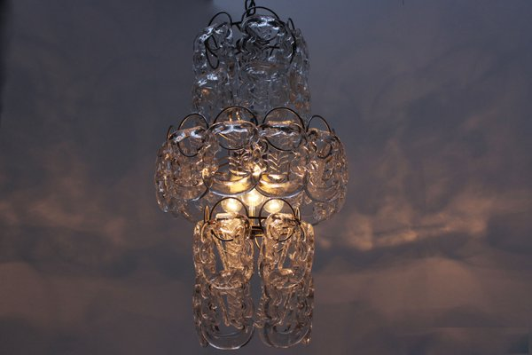 Mid century italian glass chain chandelier by angelo mangiarotti mid century italian glass chain chandelier by angelo mangiarotti vistosi mozeypictures Gallery