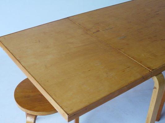 Drop Leaf Extendable Dining Table By Alvar Aalto For Artek, 1940s 11